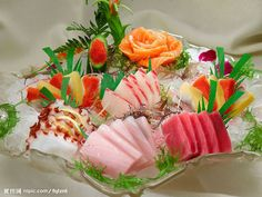 Sashimi Sushi Love, My Sushi, Arte Do Sushi, Sushi Comida, Cute Food, Yummy Food, Jiro Dreams Of Sushi, Onigirazu, Sashimi Sushi