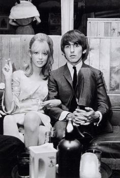 Pattie Boyd and George Harrison, 1964