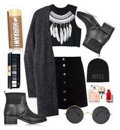 """""""Blacky"""" by lozovaya-ekaterina on Polyvore featuring мода, WithChic, New Look, Acne Studios, Tory Burch и Warm-Me"""