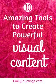 Do you know the power that visual content has to play in social media, blogging and marketing success? That's right - if you haven't already embraced visual con