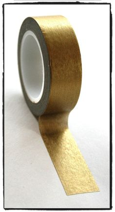 Items similar to Festive Metallic solid Gold Washi Tape Full Roll on Etsy Master Bedroom Design, Bedroom Wall, Narrow Hallway Decorating, Gold Washi Tape, Tape Wall, Room Wall Painting, Decorate Notebook, Wall Decor, Room Decor