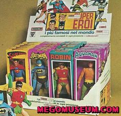 Mego Superhero store display from I think, Spain (1970's).