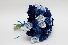 Bridesmaid bouquet paper flowers wedding by FlowerDecoration, $35.00