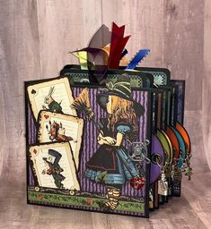New Fun with Graphic 45 Tutorial Available! Graphic 45, Halloween Mini Albums, Halloween Cards, Halloween Ideas, Mini Scrapbook Albums, Disney Scrapbook, Mini Albums Scrap, Origami, Memory Album
