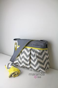 Stella DELUXE Chevron Diaper Bag Set Large with by marandalee, $127.00