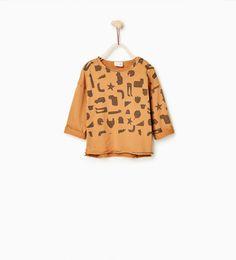 ZARA - KINDEREN - Velours T-shirt met silhouettenprint #joinlife