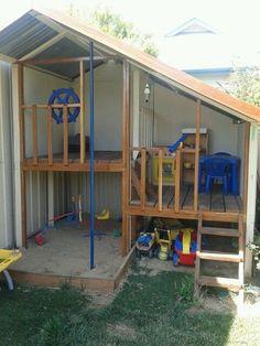 Backyard Kids Playground Cubby Houses 42 Ideas For 2019 Kids Cubby Houses, Kids Cubbies, Play Houses, Backyard House, Backyard Fences, Backyard For Kids, Backyard Ideas, Pool Backyard, House Yard