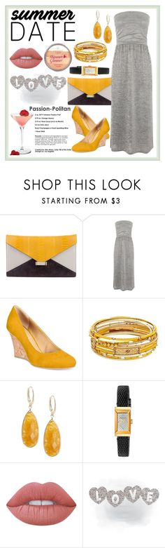 """""""Smokin' Hot: Summer Date Night"""" by terryandjim ❤ liked on Polyvore featuring CÉLINE, Oasis, Rialto, Saks Fifth Avenue, Gucci, Lime Crime and summerdatenight"""
