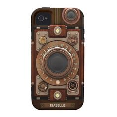 Vintage Steampunk Camera #1C iPhone 4 Cover