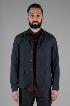 Navigator Jacket in Fine Wax Blue by Oliver Spencer