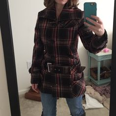 Warm winter jacket Super warm cute winter coat! Lots of pockets, lined inside and in perfect condition!!! Easy to dress up or down with some boots! Moda International Jackets & Coats Pea Coats