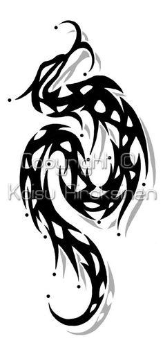 awesome Tribal Snake Tattoo Idea - Stylendesigns.com!