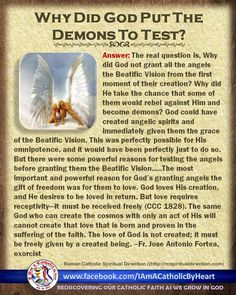Why did God put demons to the test?