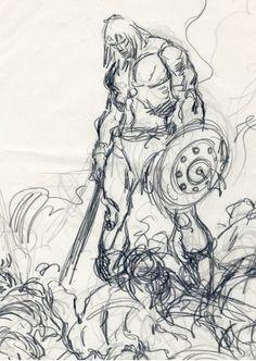 John Buscema rough sketch