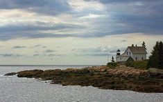 Deer Island Thorofare Light, also known as Mark Island Light, is a lighthouse on Penobscot Bay, Maine, about 1.8 nautical miles west-southwest of Stonington, Maine.