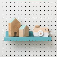 Mini scalloped shelf for pegboard Kids Shoe Stores, Paypal Credit Card, Local Hardware Store, Craft Desk, Metal Shelves, Metallica, Art Boards, Bookends, Room Decor
