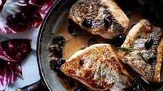 black-bass-with-warm-rosemary-olive-vinaigrette