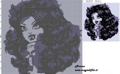 Clawdeen Wolf 2 cross stitch pattern