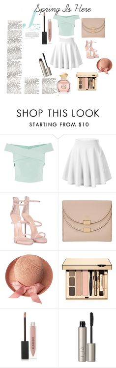 """Spring"" by cupcakelover635 on Polyvore featuring Giuseppe Zanotti, Chloé, Burberry, Ilia, Tory Burch, Spring, cute, chic, pretty and pastel"