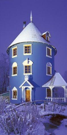 Moomin house in Naantali, Finland.