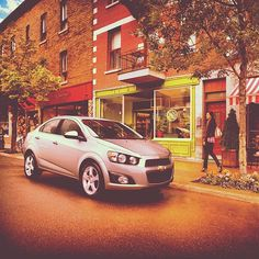The #Chevy #Sonic creates a picturesque shopping scene.