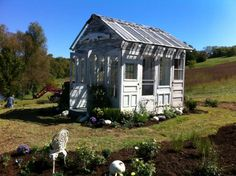 adorable garden shed found at Mint Springs Farm on FB.