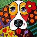 Love Pup Painting by Alan Rauch
