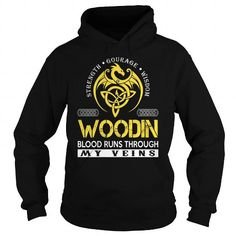 Awesome Tee WOODIN Blood Runs Through My Veins (Dragon) - Last Name, Surname T-Shirt Shirts & Tees