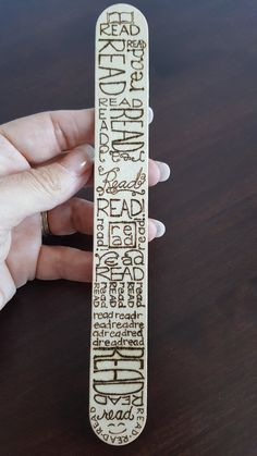 Bookmark READ Wooden Bookmark over 7.5 long Wood