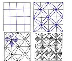 Image result for easy zentangle patterns step by step