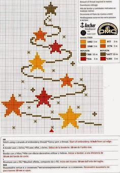 Tutoriales y DIYs: Punto de cruz: Árbol de navidad