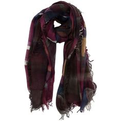 4863813181a6f FALIERO SARTI Printed Frayed Edge Scarf ( 470) ❤ liked on Polyvore  featuring accessories