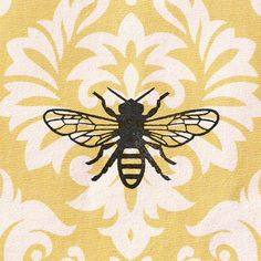 Bee Stamp: Wood Mounted Rubber Stamp by CherryBeamCreations
