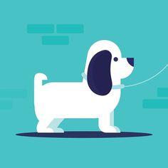 Dogs tied up outside Coles - - - - - #design #illustration #illustreak #graphicdesign #drawing #dog #digitalillustration