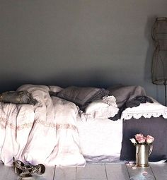 Love the gray bedding