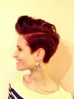 finger wave hairstyles for short hair : ... haircuts hair cut style inspirations hair cuts girl pompadour short