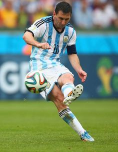 Lionel Messi of Argentina in the 2014 World Cup