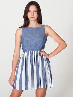 American Apparel - Stripe Chambray Sun Dress $70.00