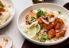 Slow Roasted Coconut-Curry Salmon.