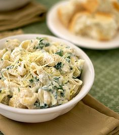 Spinach Artichoke Pasta with Parmesan and Garlic - Click image to find more popular food & drink Pinterest pins