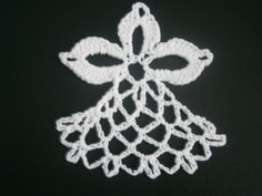 Angel Motif, Handmade Crochet, Ornament or Necklace