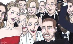 Oscar 2014, selfie's Ellen