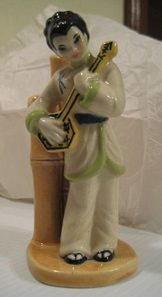 I have this matching one, too. Gotta keep the couple together. Chinese Figurines, Royal Copenhagen, Dahl, Royal Doulton, Bud Vases, Art Studios, White Roses, Ceramic Art, Bamboo