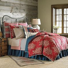 Chaps Telluride 4-pc. Comforter Set, Red