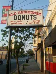 A sign you're in Chicago? Old Fashioned Donuts at 11248 S. Michigan (Chicago Pin of the Day, 10/5/2014).