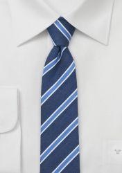Businesskrawatte schlank marineblau eisblau günstig kaufen