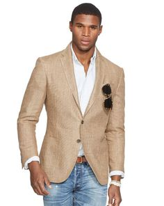 POLO RALPH LAUREN Black Morgan Textured-Linen Blazer ...