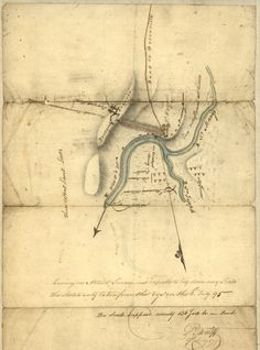 map of Fort Wayne said to have been made on July for General Anthony Wayne Historical Maps, Historical Society, Vintage Wall Art, Vintage Walls, Fort Wayne Detroit, Battle Of Fallen Timbers, Anthony Wayne, Canadian Soldiers, Guard House