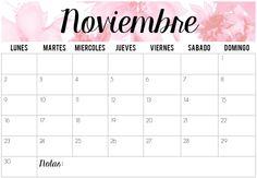Calendarios Noviembre 2015 | Imprimibles