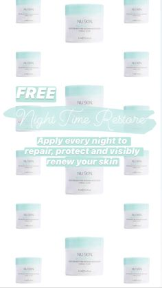 Nu Skin, Healthy Skin Care, Skin Products, Restore, Night Time, Restoration, Moisturizer, How To Apply, Business